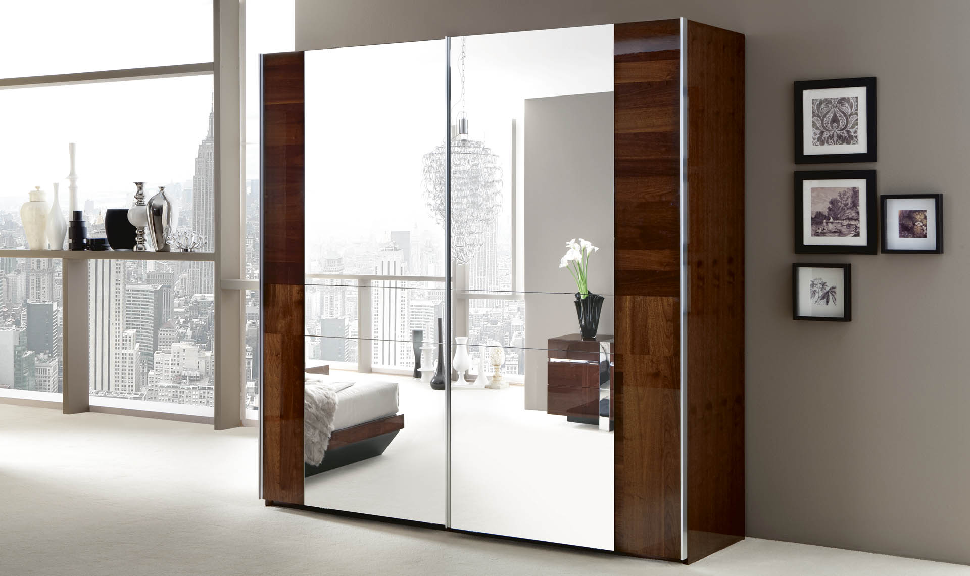 Italia  Bedroom 2/D Sliding Wardrobe