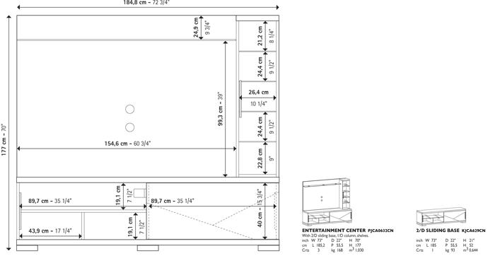 Capri Entertainment Center Technical data