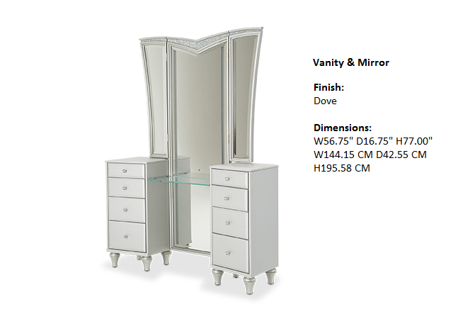 Melrose Plaza Bedroom Vanity & Mirror