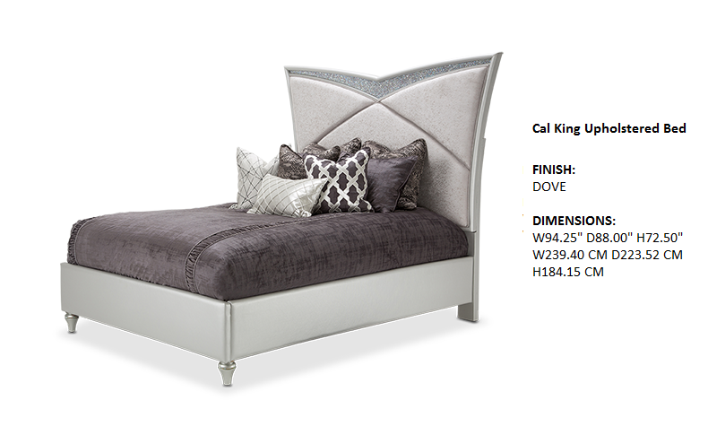 Melrose Plaza Bedroom Cal King Upholstered Bed