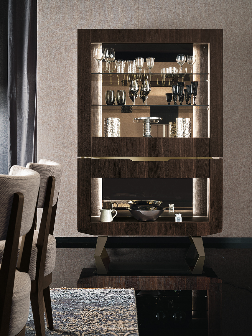 Accademia Dining Room Open Cabinet