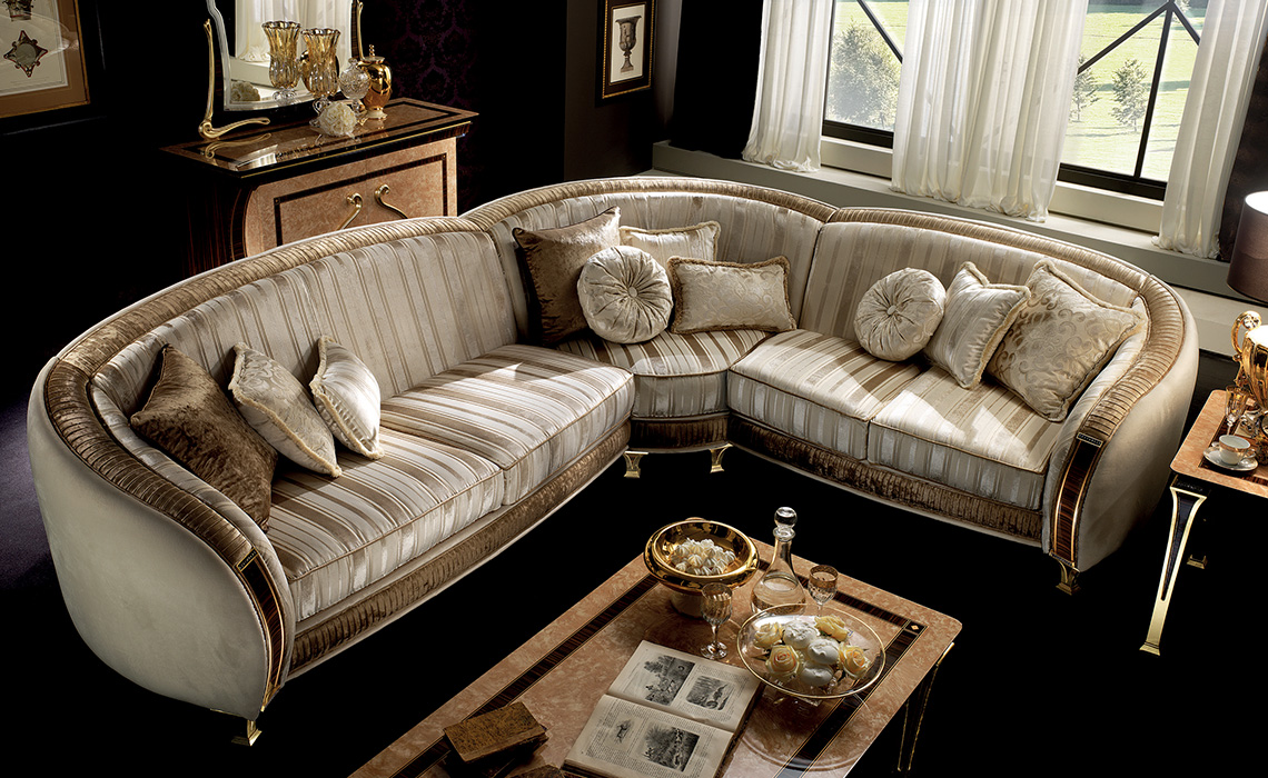 Rossini Living room corner sofa frontal