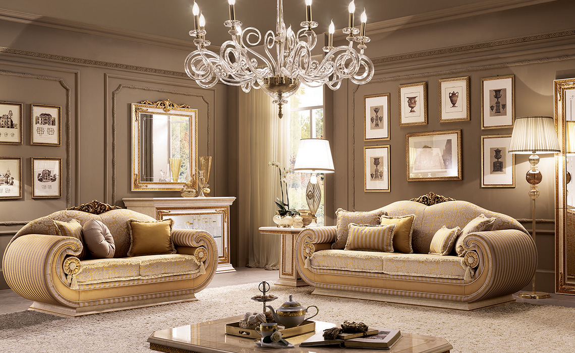 Leonardo Living Room three seats sofa