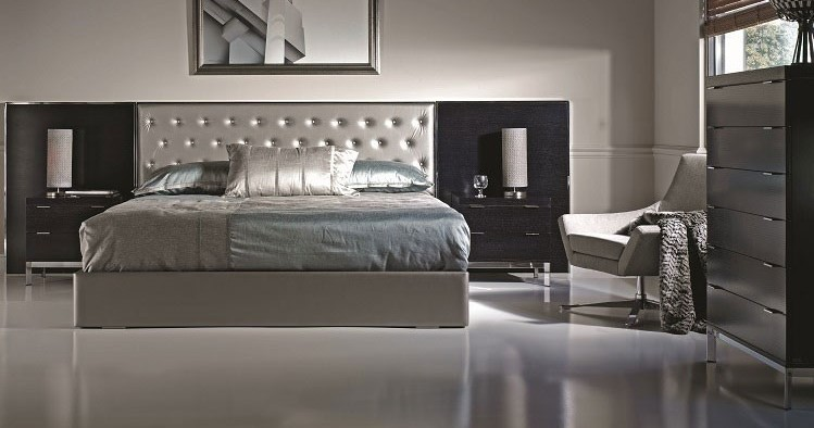 Bed chrome-upholstered City 3