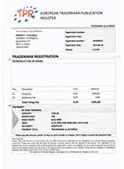 Spookfactuur TPR European Trademark Publication Register