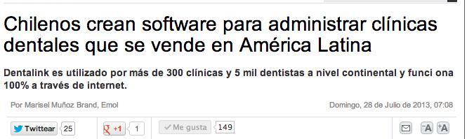 Dentalink en El Mercurio