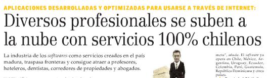 El diario más importante de Chile, El Mercurio, destacó Dentalink
