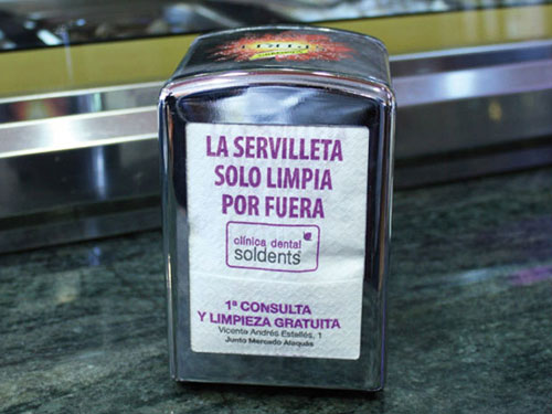 marketing para clinicas dentales servilleta