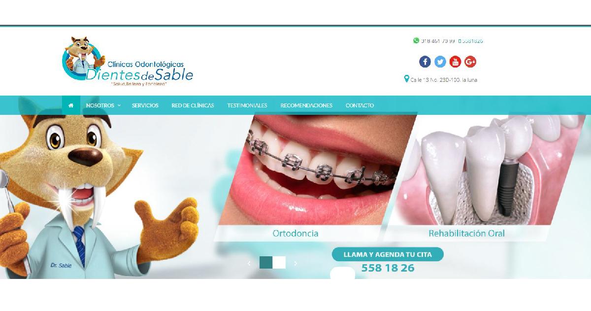 sitio web odontologia