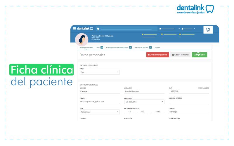 ficha o historia clinica de paciente dental