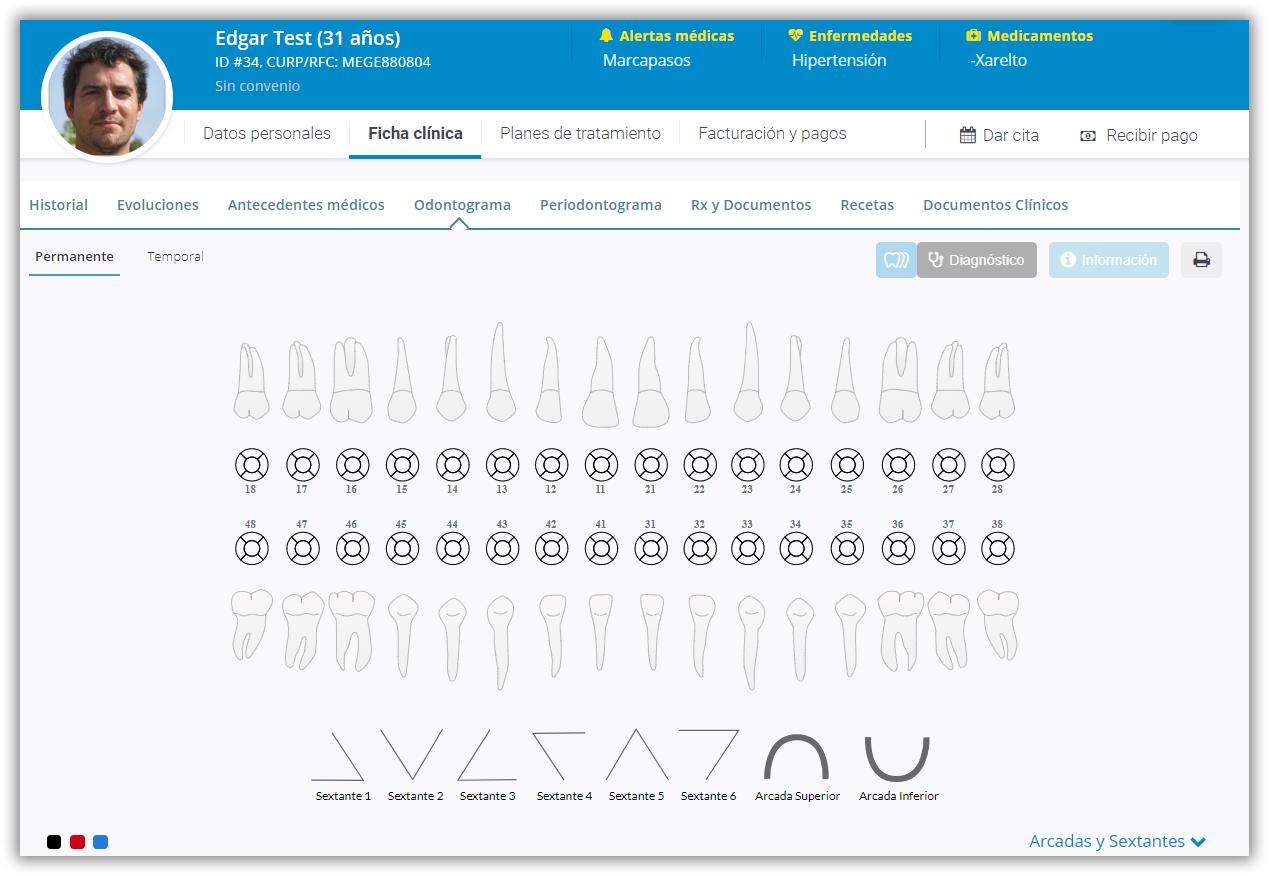 odontograma digital odontologo