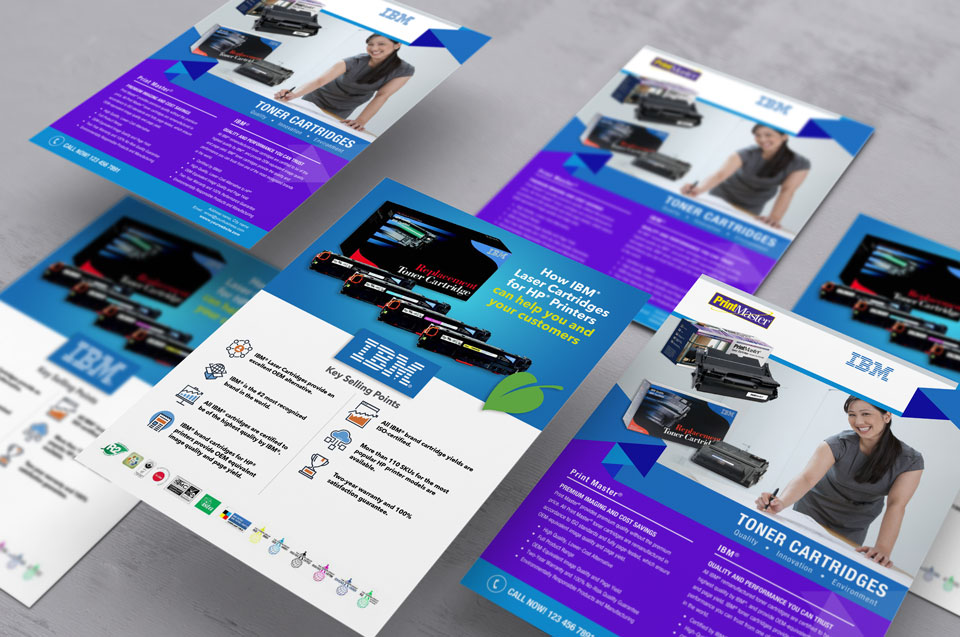 photo of flyers for IBM