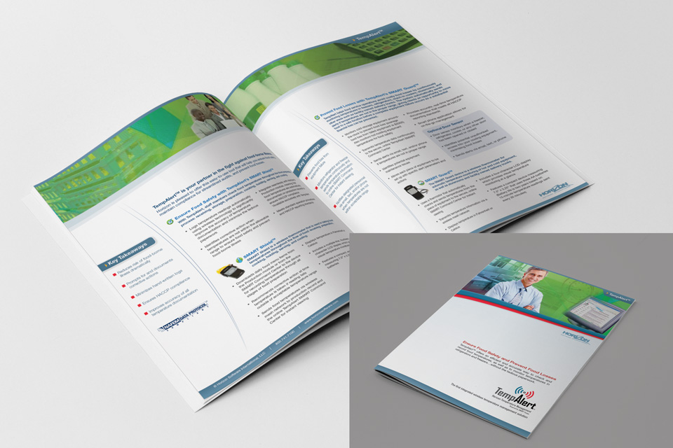 folder of TempAlert booklet