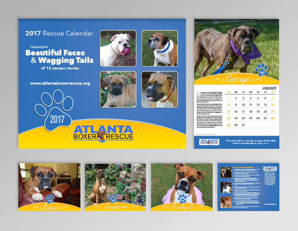 photo of Atlanta Boxer Rescue calendar