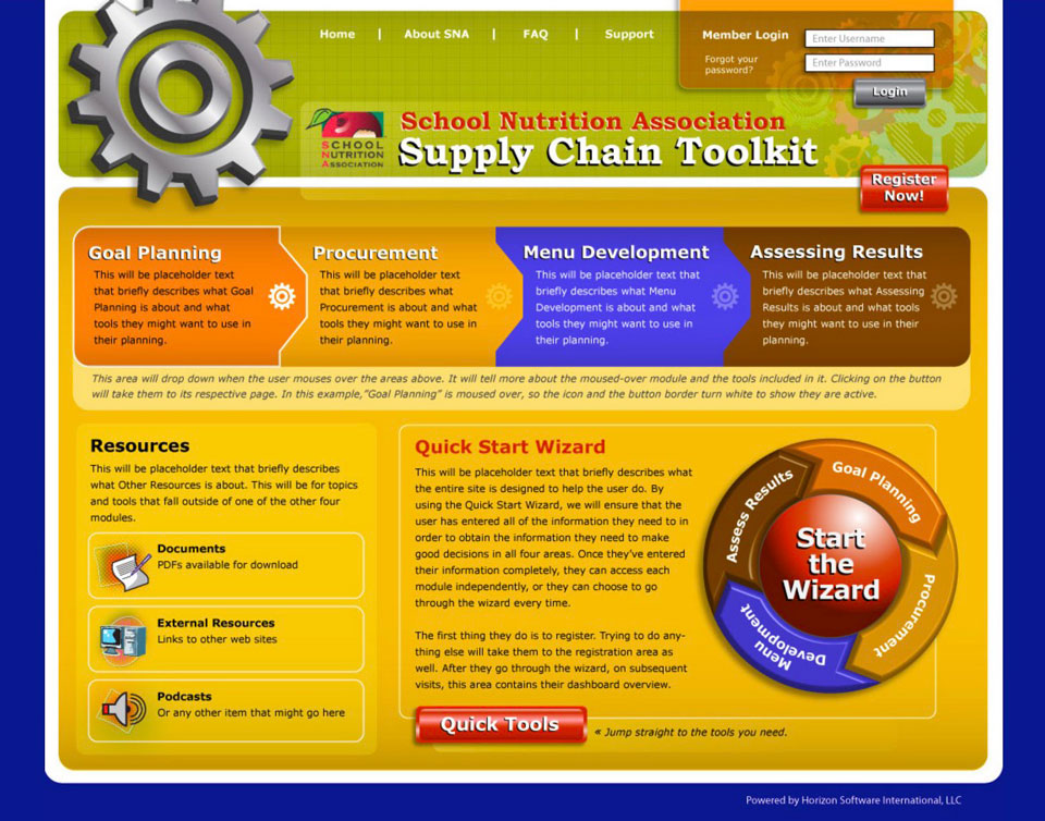 photo of website: SNA proposal detail