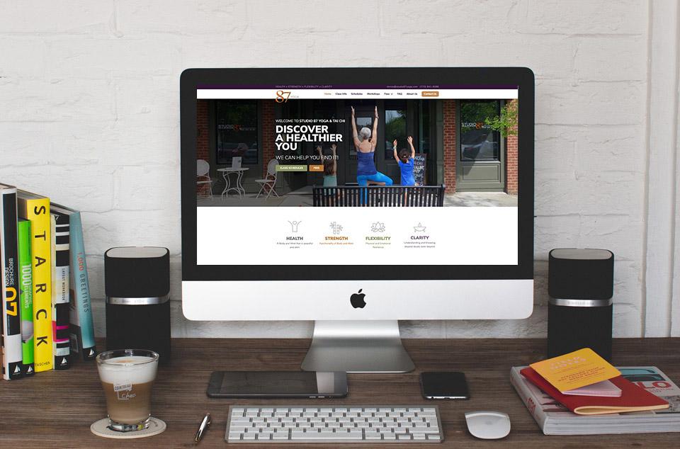 photo of website: yoga studio