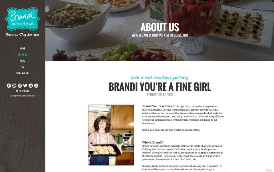 photo of website: Brandi You're a Fine Girl detail