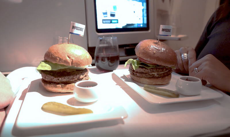 Air New Zealand now has the Impossible Burger on their inflight menu