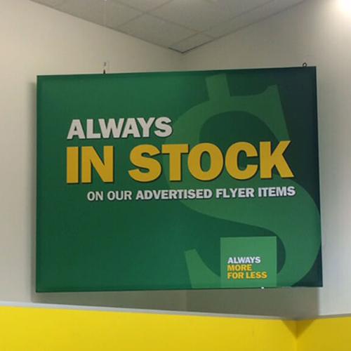 Photo of Food Basics - 46mm SEG Double Sided Corner Sign
