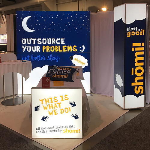 photo of shomi booth at 2017 Consac exhibition