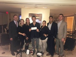 HSMAI Board presenting $1,500 donation to 2 Hands 2 Cans