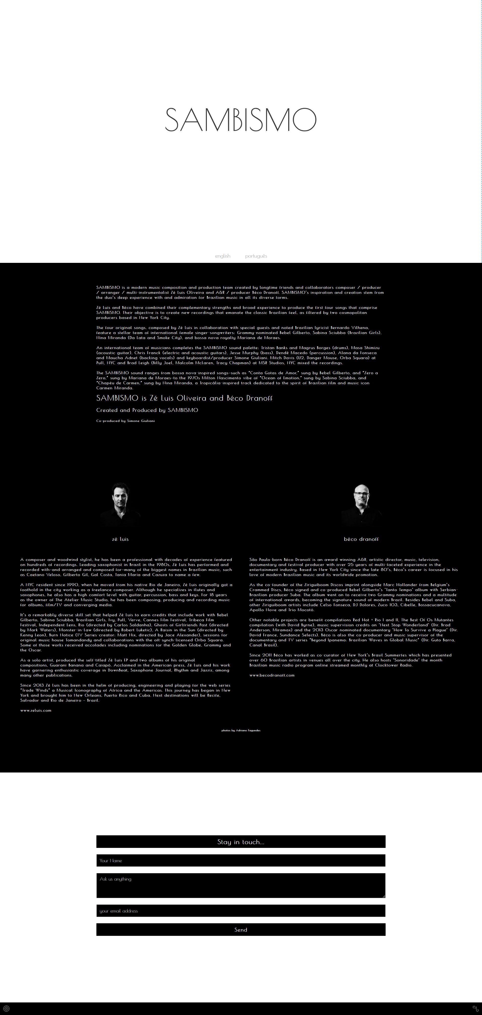 CLICK BLUE > Portfolio > Sambismo _ Music Ensemble
