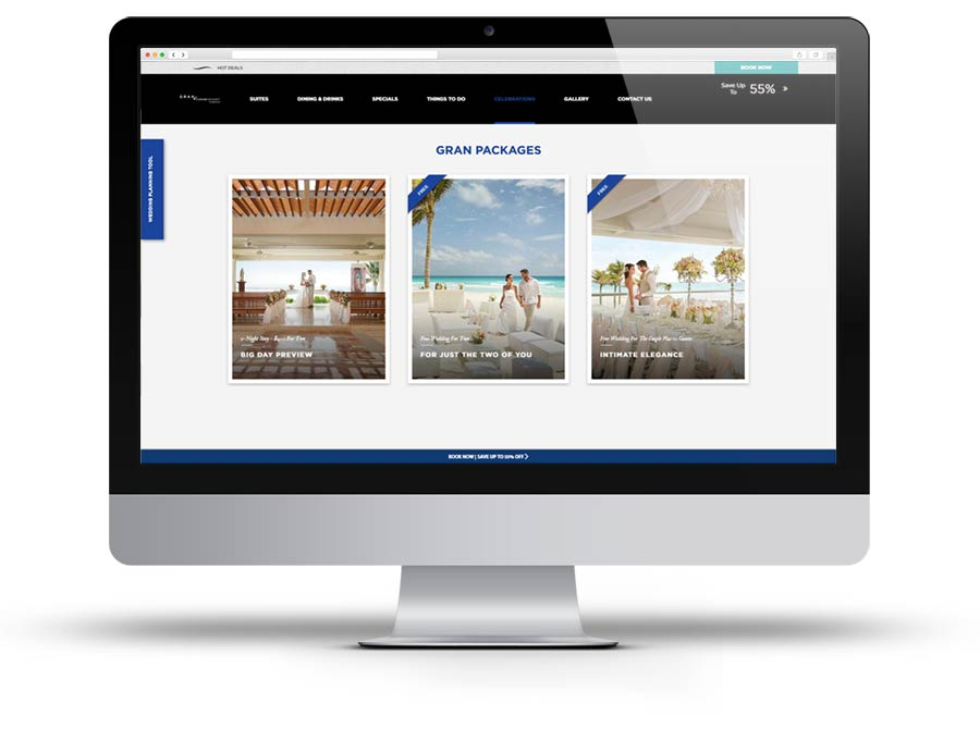 Playa Hotels and Resorts website screen capture