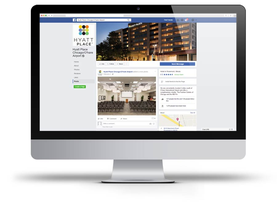 Hyatt Place Chicago O'Hare Facebook page screen capture