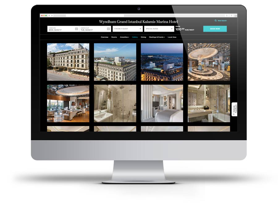 Screen Capture of Wyndham Grand Istanbul Kalammis Marina Hotel website
