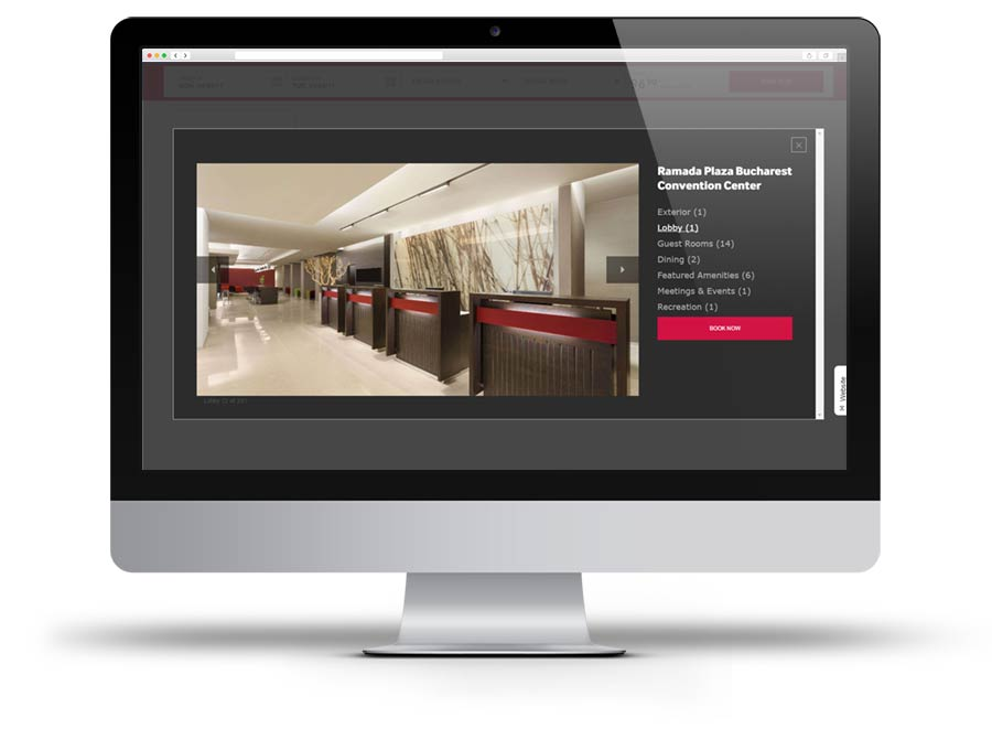Screen capture of Ramada Plaza Bucharest Convention Center website