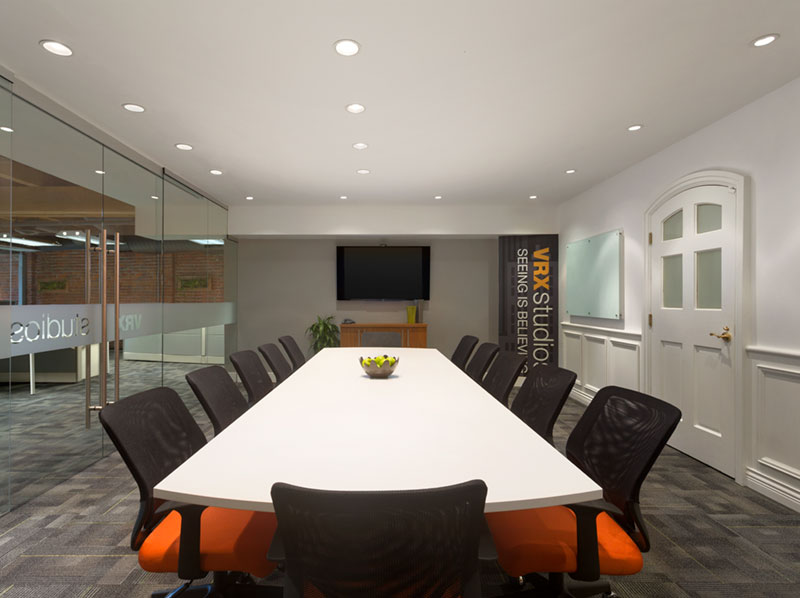 VRX Studios' office space photography of meeting room