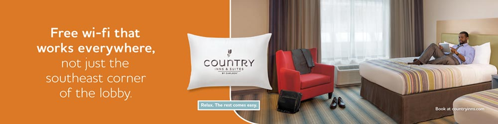 Country Inn and Suites airport advertisement mockup