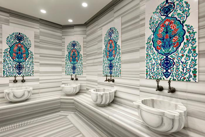 Architectural photography of hamam at TRYP by Wyndham Istanbul Taksim