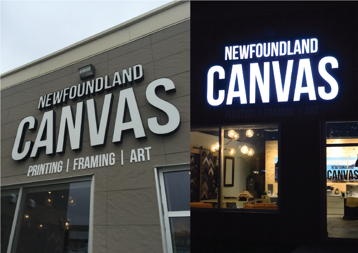 Newfoundland Canvas Channel Letters