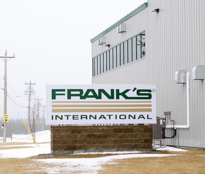 Frank's International Ground Sign