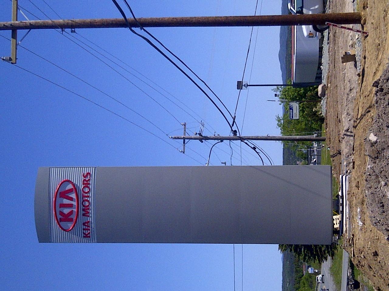 KIA Motors Pylon Sign