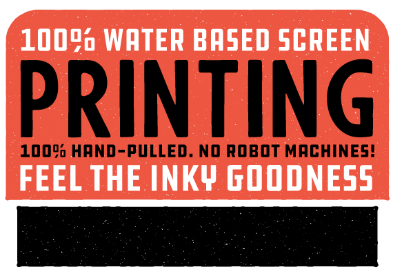 100% Waterbased Screen Printing