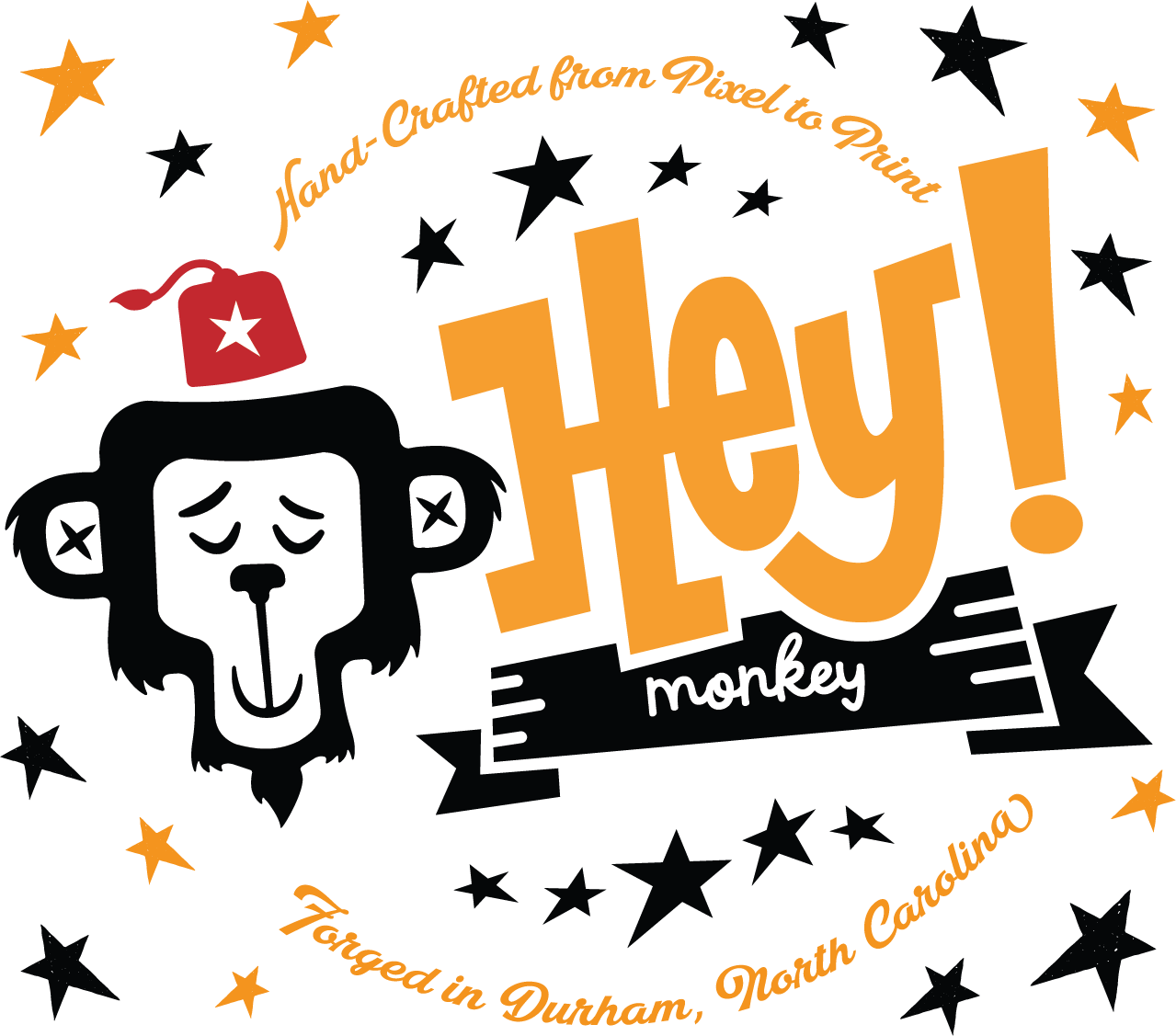 Hey! Monkey Branding Logo Design Illustration Screen Printing Workshops Team Building