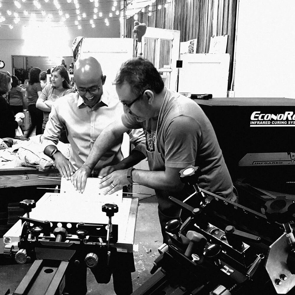 A Photo Showing a Team Build Attendee How To Print
