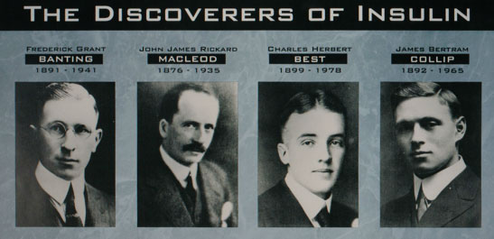 The discoverers of insulin after which Bleen is named: best, collip, macleod and banting.