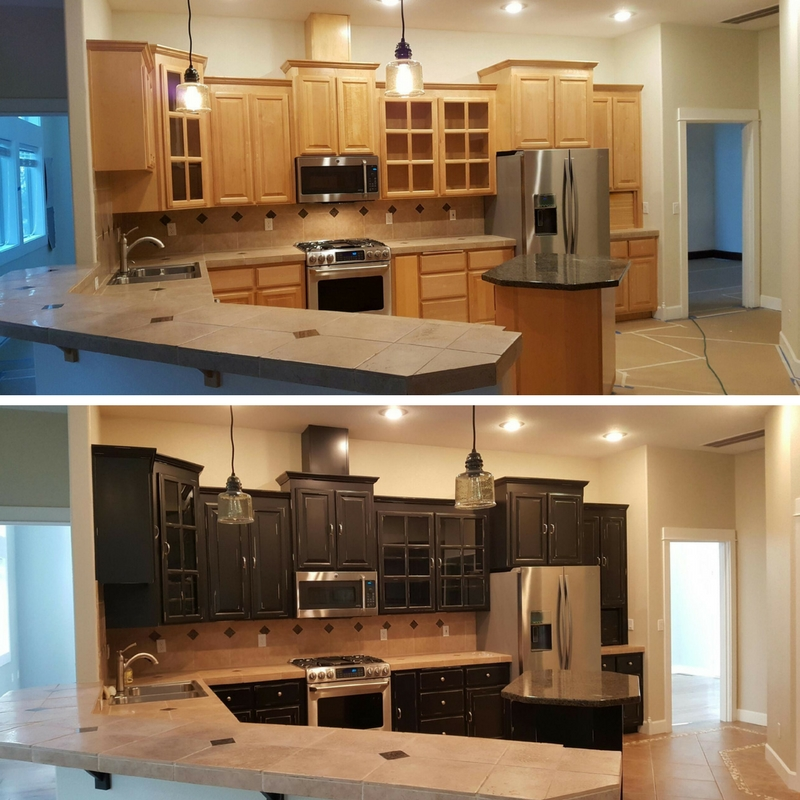 Replace Or Refinish Kitchen Cabinets: Refinishing Kitchen Cabinets And Trim By Toning In Bend
