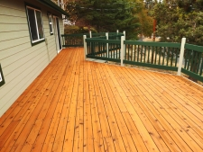 Bend Deck After Staining - Webfoot Painting Deck Team