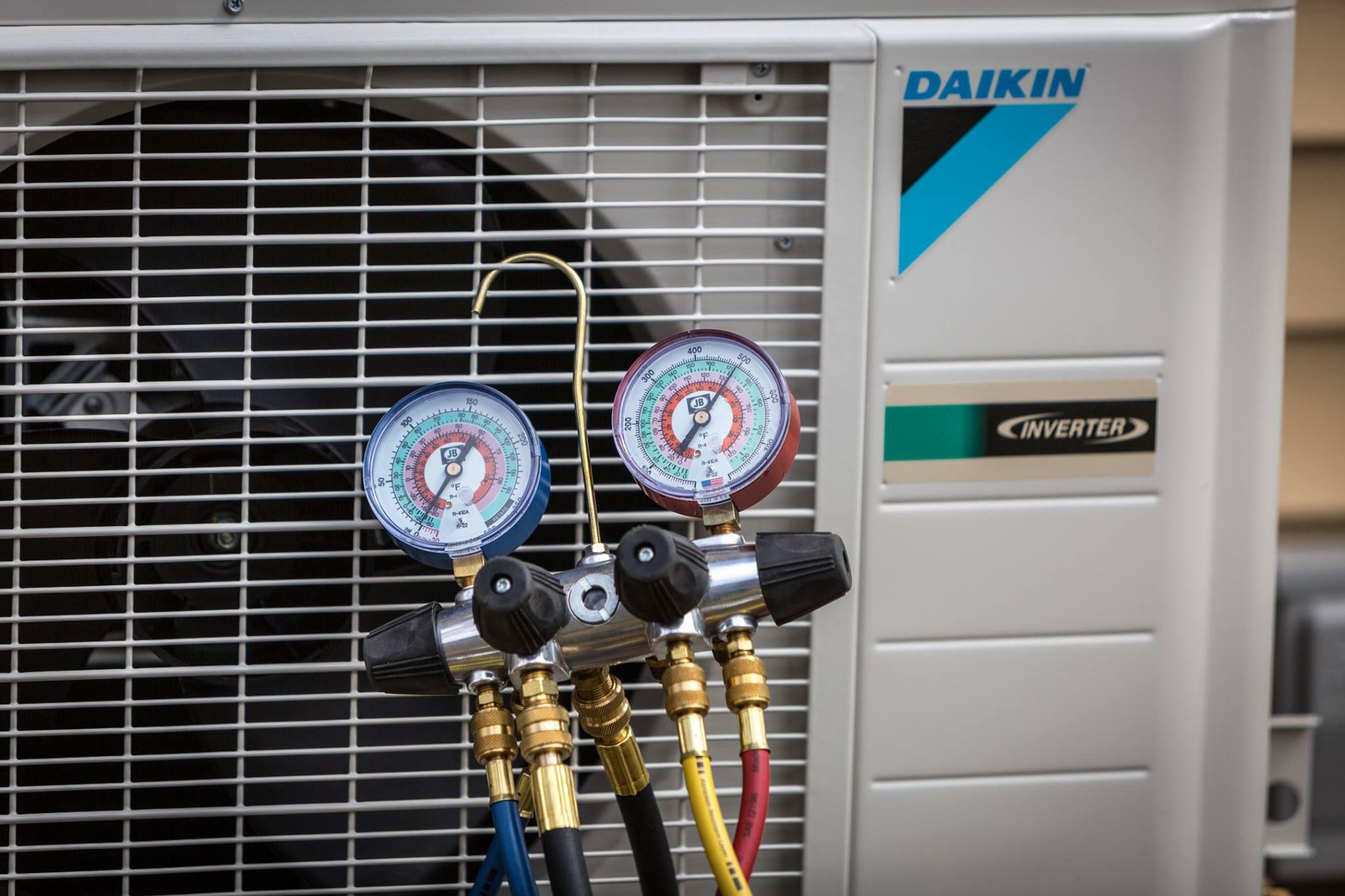 Daikin Heat Pump Close up