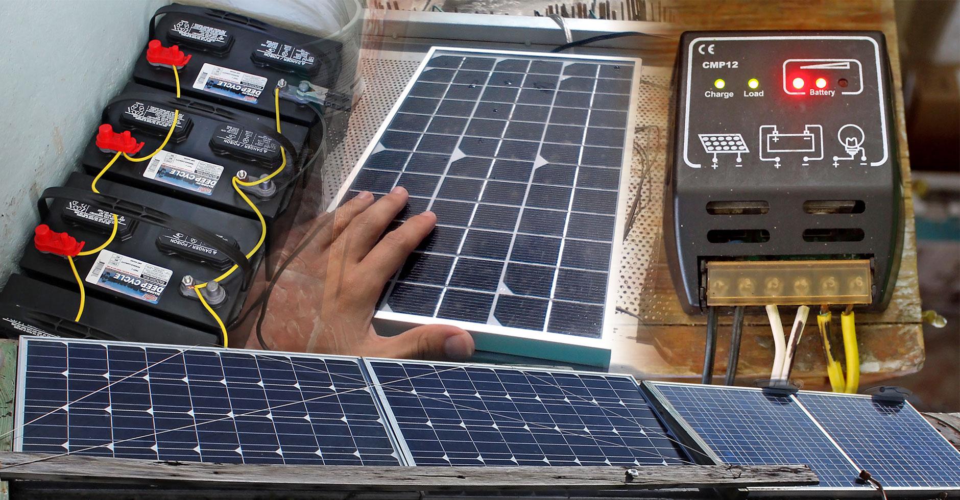 Sistema de energía solar en Puerto Rico.