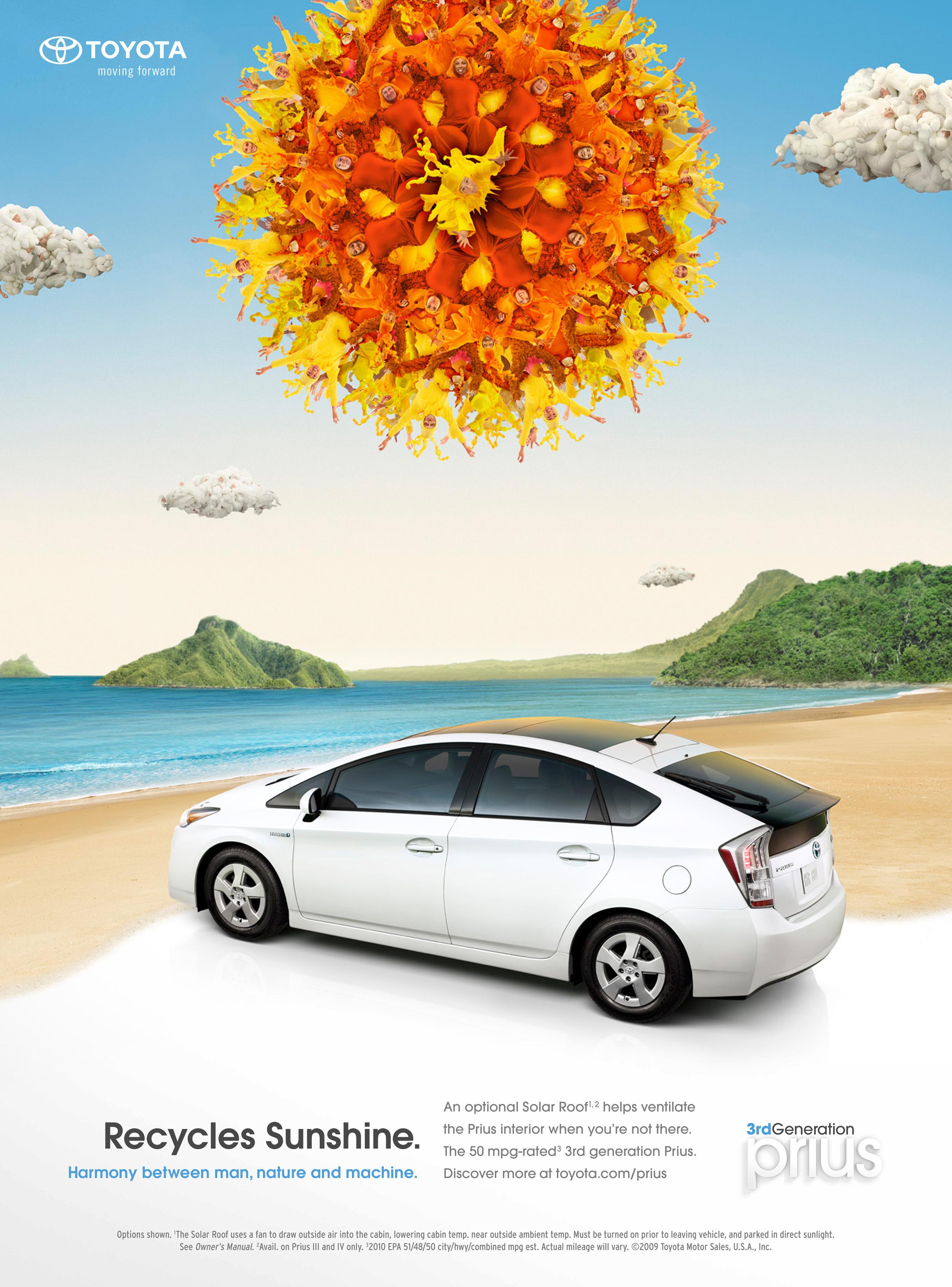 XYZ Toyota Prius Solar Retouch Advertisement