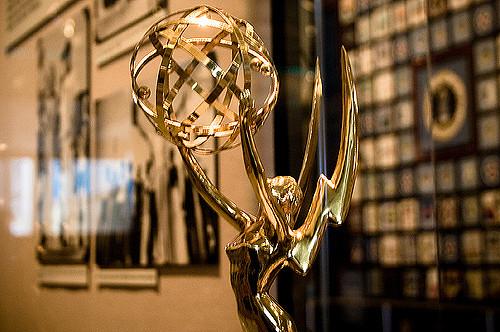 close-up of an award