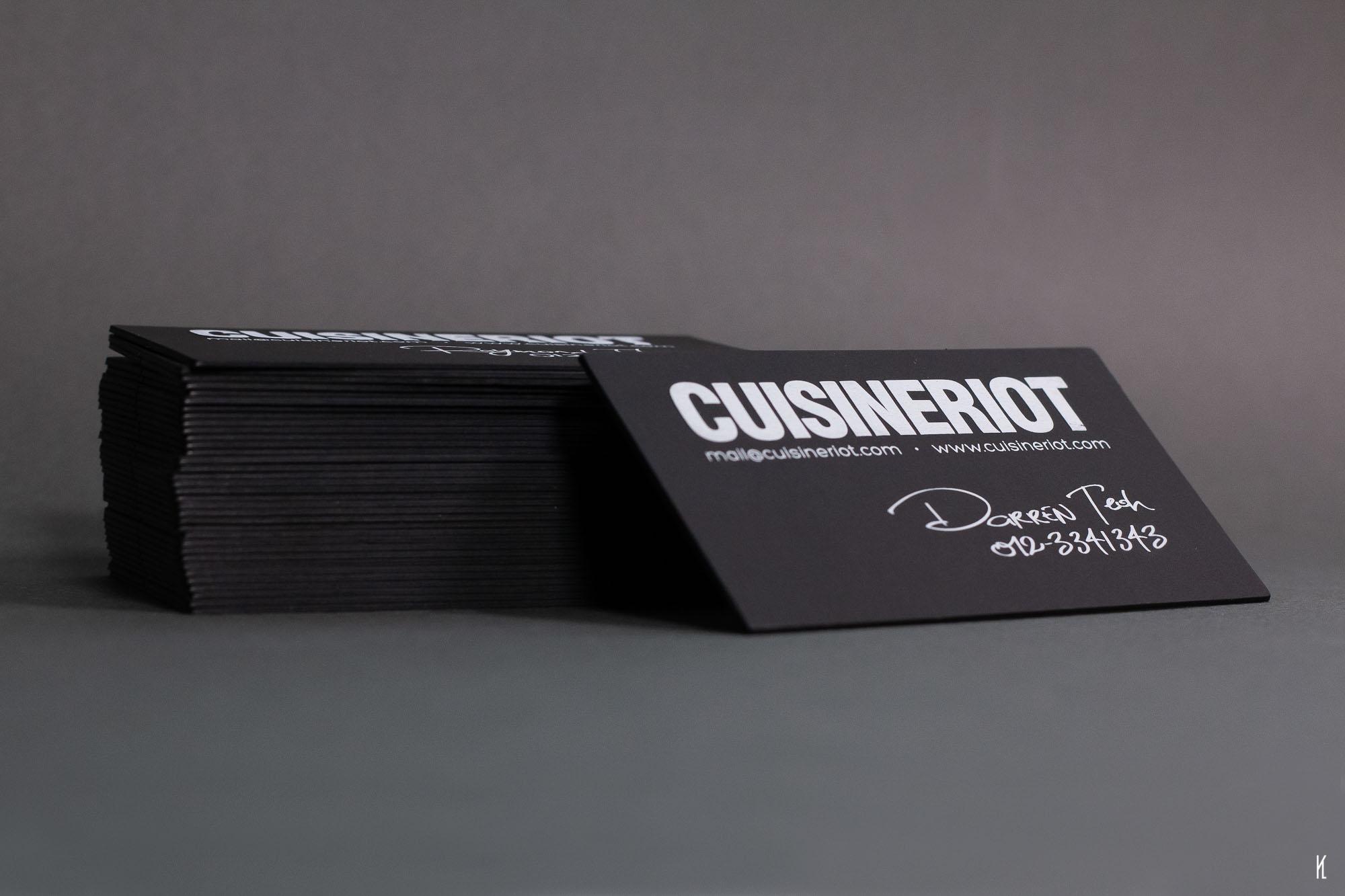Triplex Namecards for Cuisine Riot