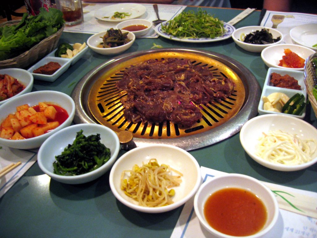 full bowl of korean bbq meat