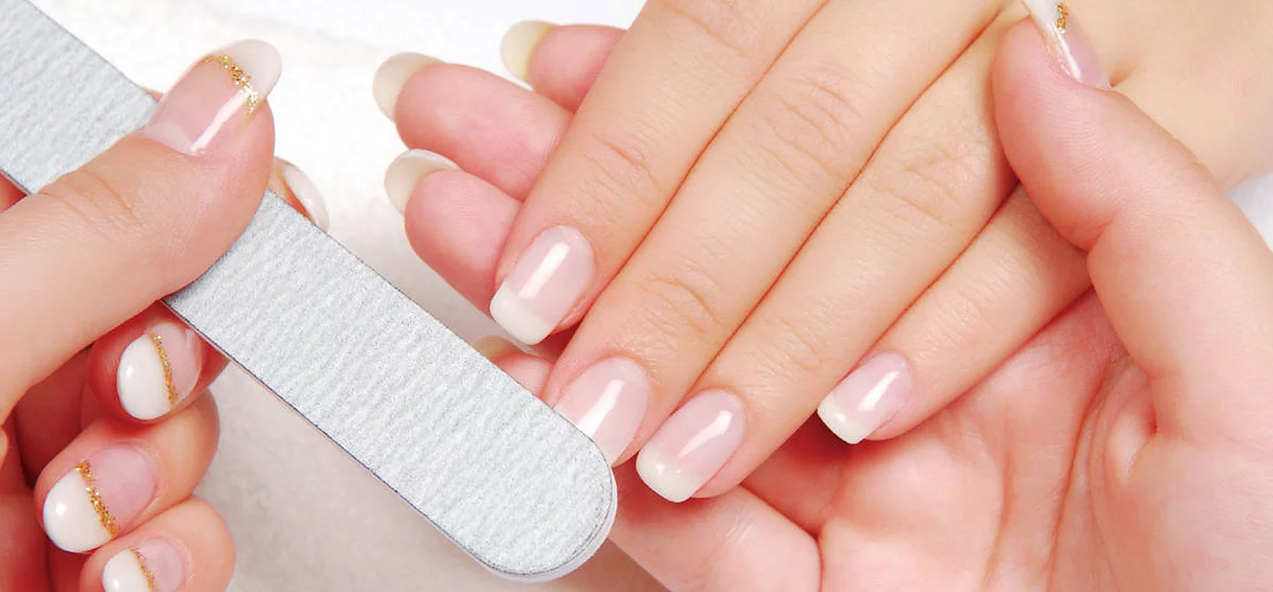 Nails being manicured