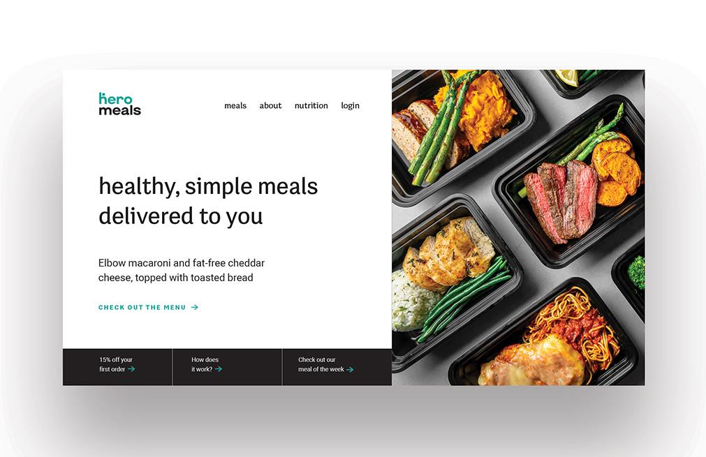 Hero Meals homepage